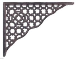 "Ornate Lattice Shelf Bracket Cast Iron Decorative Corbel Brace 8.5"" - $15.99"