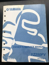 Used Yamaha Service Manual LIT-11626-19-72 YZ250FV - $16.95