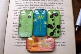 Flower Magnets, Domino Glass Magnets, Floral Fridge Magnets, Refrigerato... - $10.00