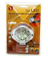 32 Bulb Head & Bicycle Led Light FL8232B and Bicycle Lamp 30 White LED B... - $24.74