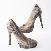 Michael Kors Womens Leather Snake Skin Platform Stiletto Heels Pumps Siz... - $49.49