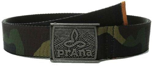 L/XL prAna Unisex Union Web Belt Metal Buckle Camo Pattern NEW Men's Women's