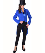 Tailcoat - Deluxe BLUE Cabaret Tailcoat , Ladies - sizes 6 - 22 - $37.37+
