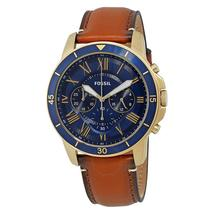 Fossil Grant Chronograph Blue Dial Leather Strap Men's Watch FS5268 - $272.00