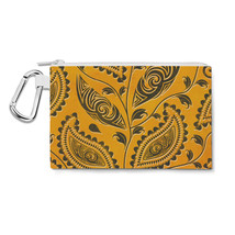 African Tribal Leaves Canvas Zip Pouch - $15.99+