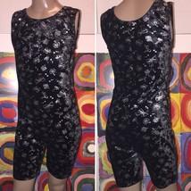 Jacques Moret Girl's Size L 12/14  Black Velvet Unitard Leotard Christma... - $9.99