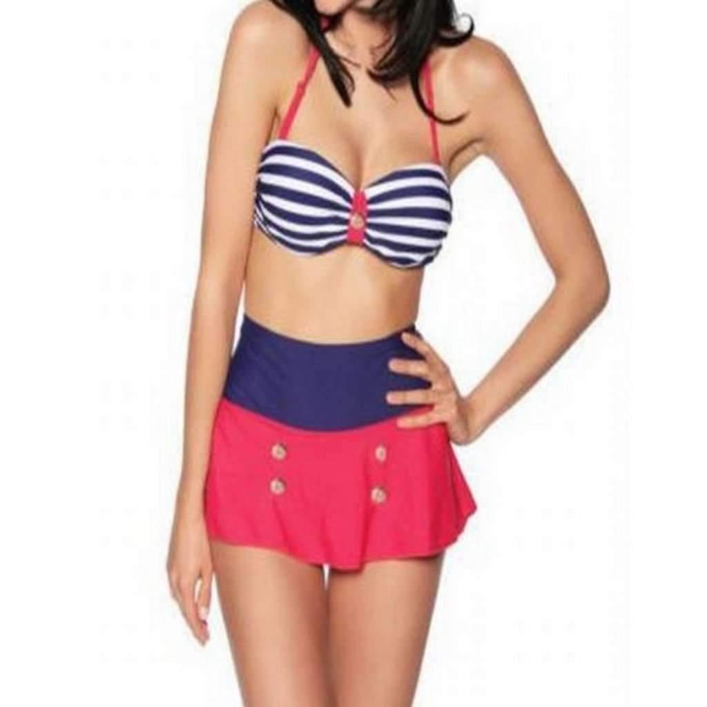 6d5b933063812 Daisy dress for less swimsuit retro high waist skirt women bikini set  1407263703071