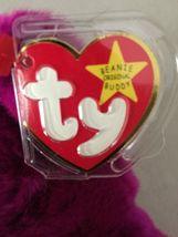 "TY ""Millennium"" Teddy Bear Beanie Buddy 1999 Stuffed plush image 3"