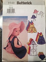 Butterick Infant's Cover-up, Dress, Panties and Hat 3540 Size Nb, S, M - $11.83