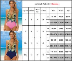 Women's Designer V- Neck Tummy Control Halter One Piece Swimsuit image 4