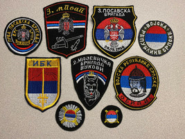 REPUBLIC SRPSKA ARMY, GROUPING OF 9 PATCHES,  CIRCA 1992-1995, VINTAGE, ... - $57.99