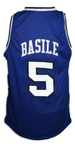 Gianluca Basile #5 Italia Basketball Jersey Sewn Blue Any Size image 2