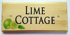Personalised Lime House Name Sign, Bar Pub Plaques Shed Name Gin Number... - $12.79