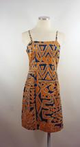 Hilo Hatties Sz Sm Brown Black Hawiian Tribal Print Dress - $23.55