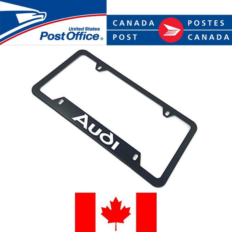 ️ 1X AUDI Black Aluminum License Plate Frame Black Frames