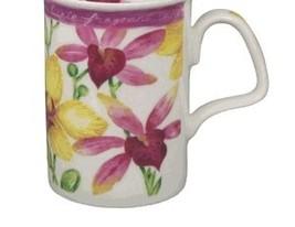 "Roy Kirkham ""Orchid"" Lancaster Fine Bone China Mug 10 OZ. MADE IN ENGLAN... - $19.90"