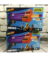 Lot of 2 NERF Fortnite HC-E Mega Dart Blaster 3 Official Mega Fortnite Darts NEW - $28.66