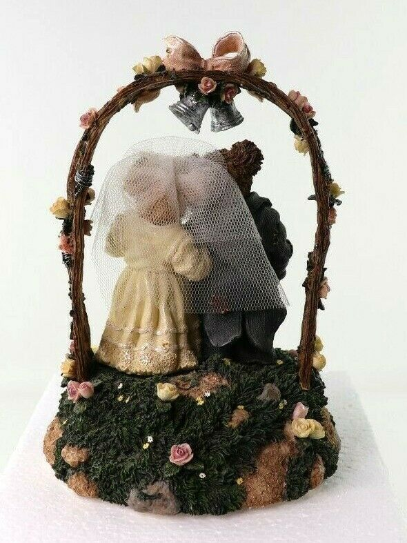 """Boyds Bearstone Collection """"Mr and Mrs. Everlove"""" Music Box 1E/3641 #270561 New image 4"""