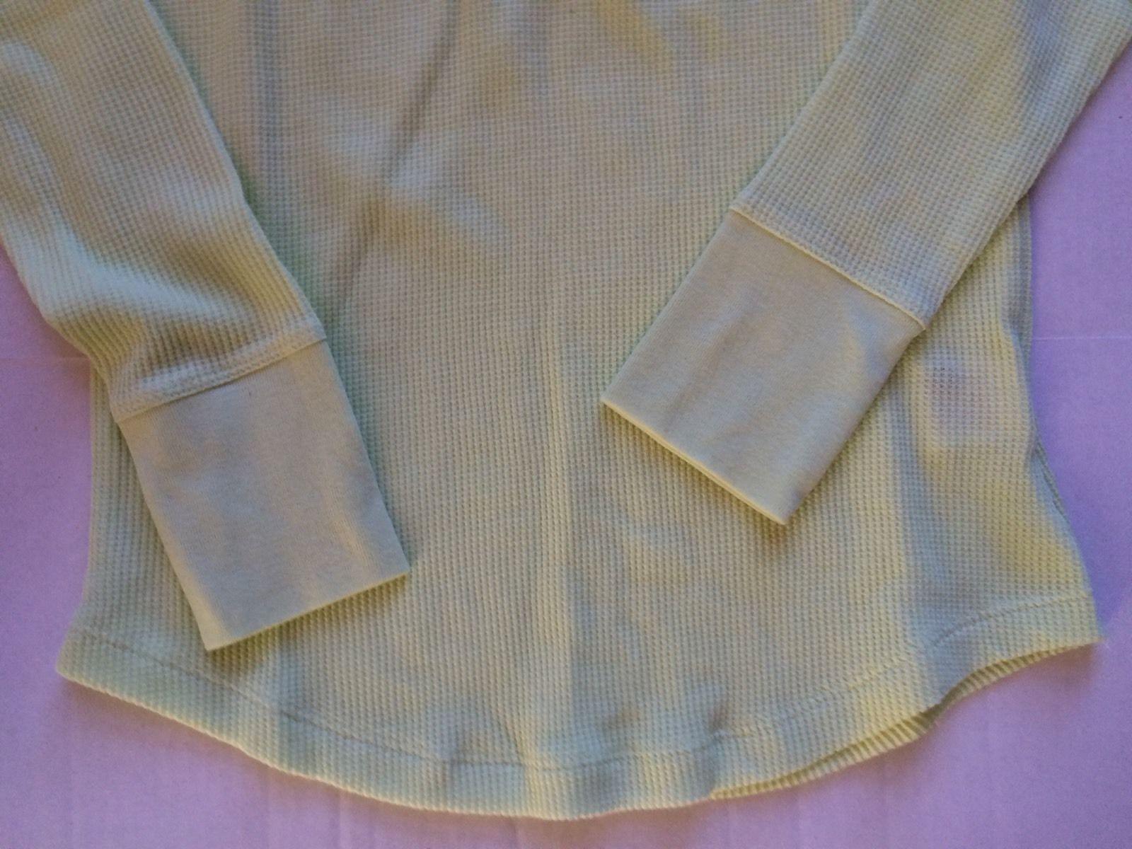 FADED GLORY Henley t.shirt size Small 4-6 Lemon