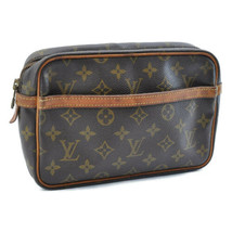 LOUIS VUITTON Monogram Compiegne 23 Clutch Bag M51847 LV Auth 8783 Sticky - $128.39