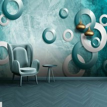 New Custom Any Size Murals Creative Blue Geometric Source Forest Photo W... - $13.43