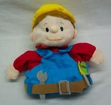 "Lillian Vernon Builder Handy Man Hand Puppet Boy 8"" Plush Stuffed Toy - $14.85"