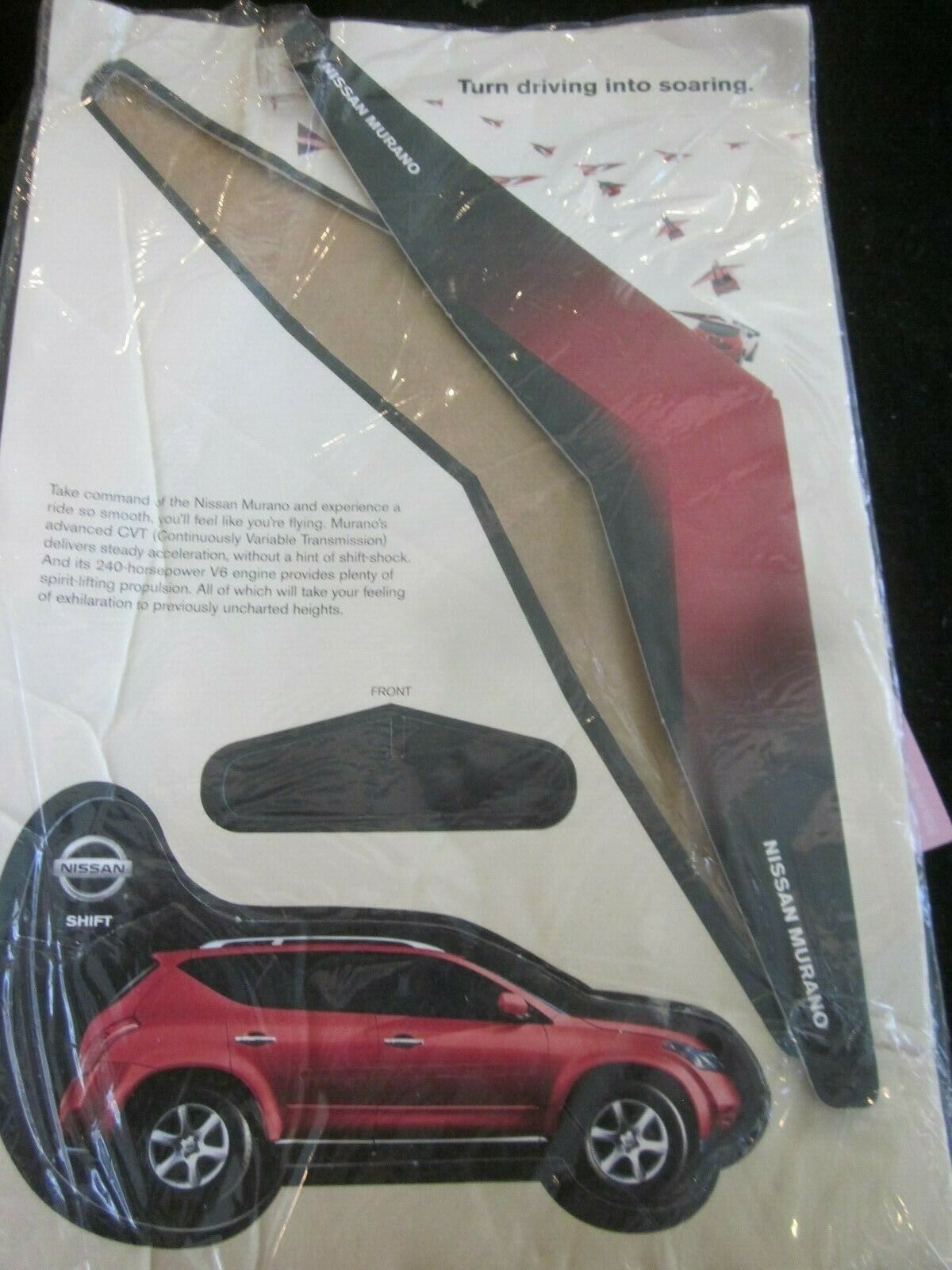 Primary image for NISSAN MURANO CARDBOARD MODEL TURN DRIVING INTO SOARING BRAND NEW