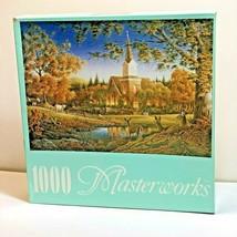 """Masterworks RoseArt 1000 pc Jigsaw Puzzle Sunday Morning 18"""" x 26"""" New sealed - $12.86"""