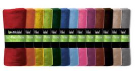 Premium 50 x 60 Soft Warm Cozy Fleece Throw Blanket - Colors - $151,62 MXN
