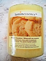 """2-PACK LUMINESSENCE SUGAR COOKIE SCENTED PILLAR CANDLES: 2.5""""x 2.8"""" - $9.00"""