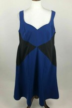 Cherry Velvet Shift Dress Womens XL Fit and Flare Color Block Sweetheart... - $19.28