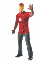 Rubies Marvel Comics Iron Man Adult Mens Shirt & Mask Halloween Costume ... - $21.99