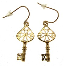 Gold Statement Earrings Drop Earrings Key Earrings  - $11.67