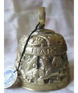 Vintage Bronze hand bell Matthew Mark Luke John  Sacre Coeur Montmartre - $25.00