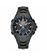 New Seiko Men's Coutura Black Dial Chronograph Stainless Steel Watch - B... - $346.09