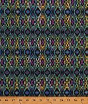 Stripes Diamonds Geometric India Spice Route Cotton Fabric Print BTY M70... - $11.49