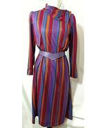 Vtg JC PENNEY FASHIONS Dress Belt Multi Color Stripes 60s 70s Angled Bel... - $76.91