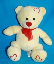 """Sugarloaf TEDDY BEAR 9"""" Yellow Plush Valentine Stuffed Soft Toy Red Hearts Nose - $17.37"""