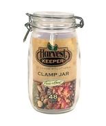 Harvest Keeper Glass Storage Jar w/Metal Clamp Lid - 48 oz (12/Cs) - $24.99