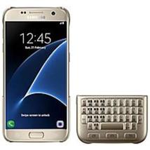 Samsung EJ-CG930UFEGGB Qwerty Keyboard Cover For Galaxy S7 - Gold - $36.29