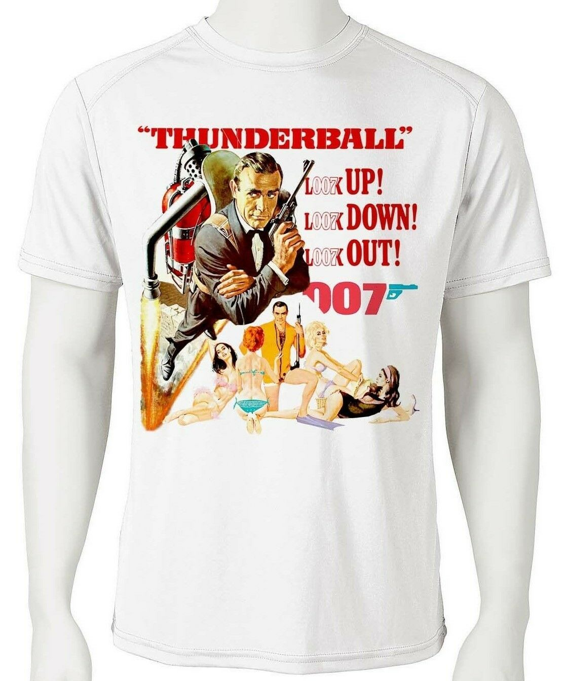 James Bond Dri Fit T-shirt Thunderball 007 graphic microfiber UPF +50 Sun Shirt