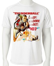 James Bond Dri Fit T-shirt Thunderball 007 graphic microfiber UPF +50 Sun Shirt image 1
