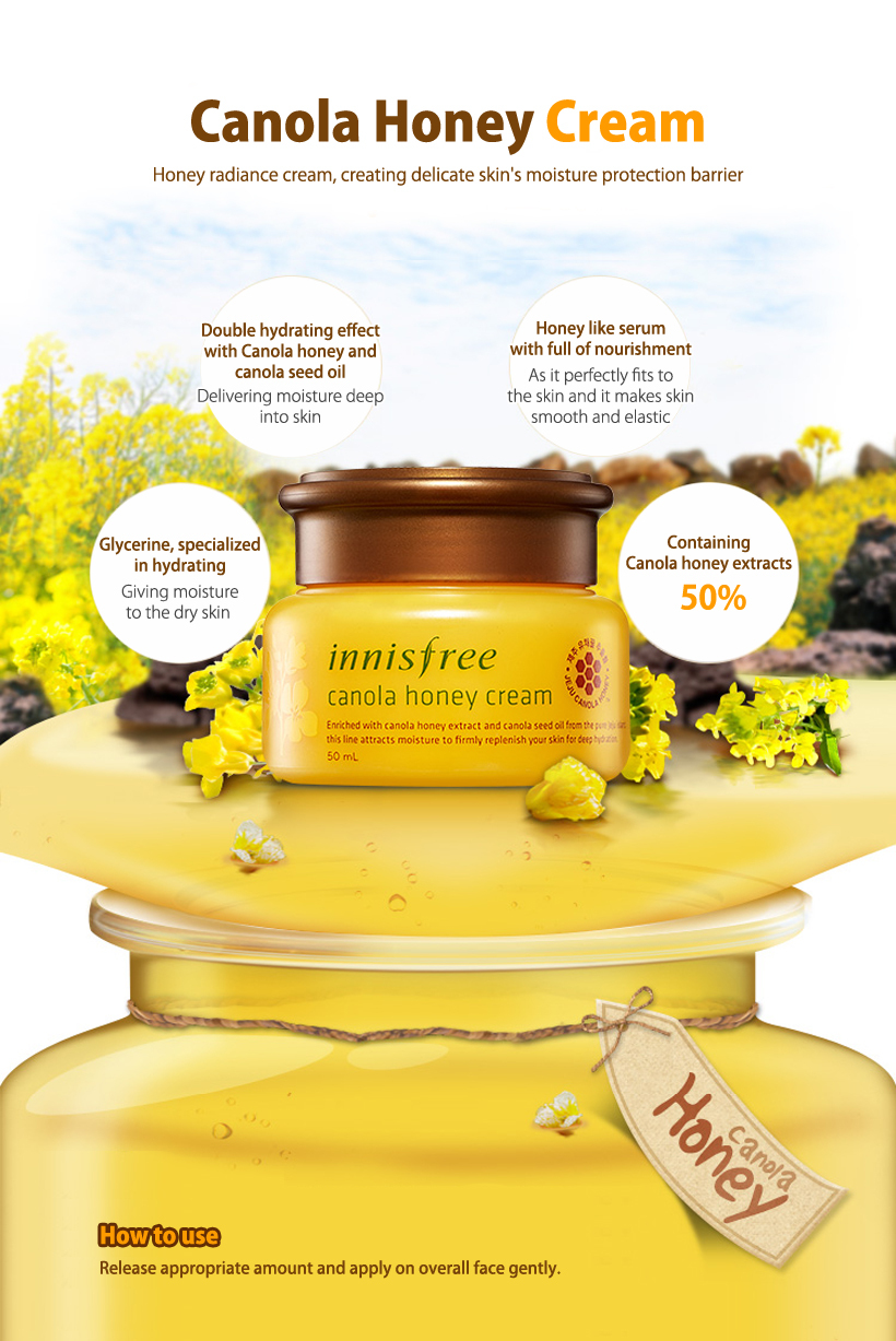 innisfree INNISFREE Canola Honey Jelly Cream 50ml / Moist Cream / Canola Extract