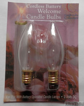 Light Bulbs for Battery Operated Candle Lamps- Clear - $4.00
