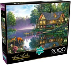 2000 Piece Jigsaw Puzzle Buffalo Games Kim Norlien 38 in. x 26 in., CABIN FEVER - $28.45