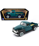 1950 GMC Pickup Truck Dark Green and Black 1/18 Diecast Model Car by Roa... - $65.98