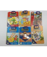 Leap Frog Leap Pad 6 Interactive Books and 6 Cartridges Leap Start + Lea... - $15.20