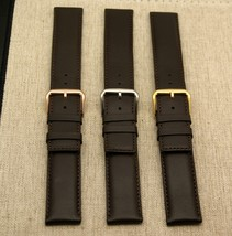 New Gucci 20 MM Brown Genuine Leather Band - Large - Generic Clasp (20.105GC) - $29.95+