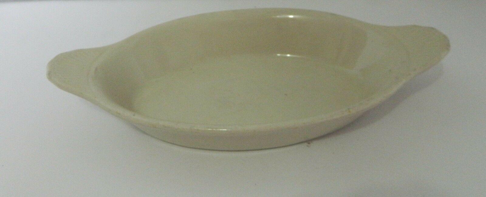 Bel-Terr Oval Au Gratin Potato Baking Dish Restaurant Ware Off White #9529