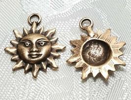SUN FINE PEWTER PENDANT CHARM - 3x22x18mm image 2